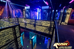 WCPO SEPTEMBER 23, 2015 - SCENE 75 CINCINNATI -Scene 75 Cincinnati, a new entertainment facility in Milford, features nearly 90,000 square feet of attractions and games. Inside the multi-level laser tag maze.  Photo: David Sorcher
